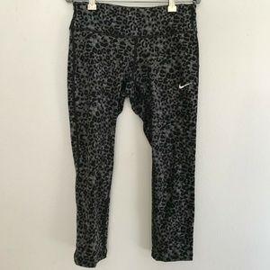 Nike Dri-Fit Cheetah Print Ankle Pants XS